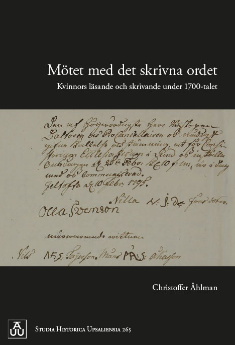 Christoffer Åhlman's thesis on womens literacy in the eighteenth century