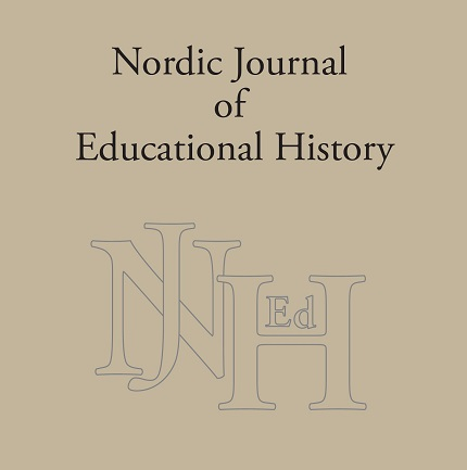 Tidskriftsomslag Nordic Journal of Educational History